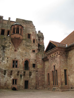 Part of the ruined castle in Heidelberg