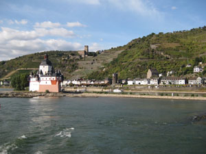 One of the many castles along the Rhine River
