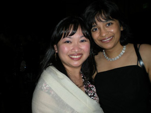 Me with my editor, Cindy Hwang, at the Penguin Cocktail Party (Photo courtesy of Sheri Whitefeather)