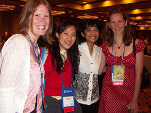 Nalini Singh With readers and bloggers, Kate, Alice & Ciara
