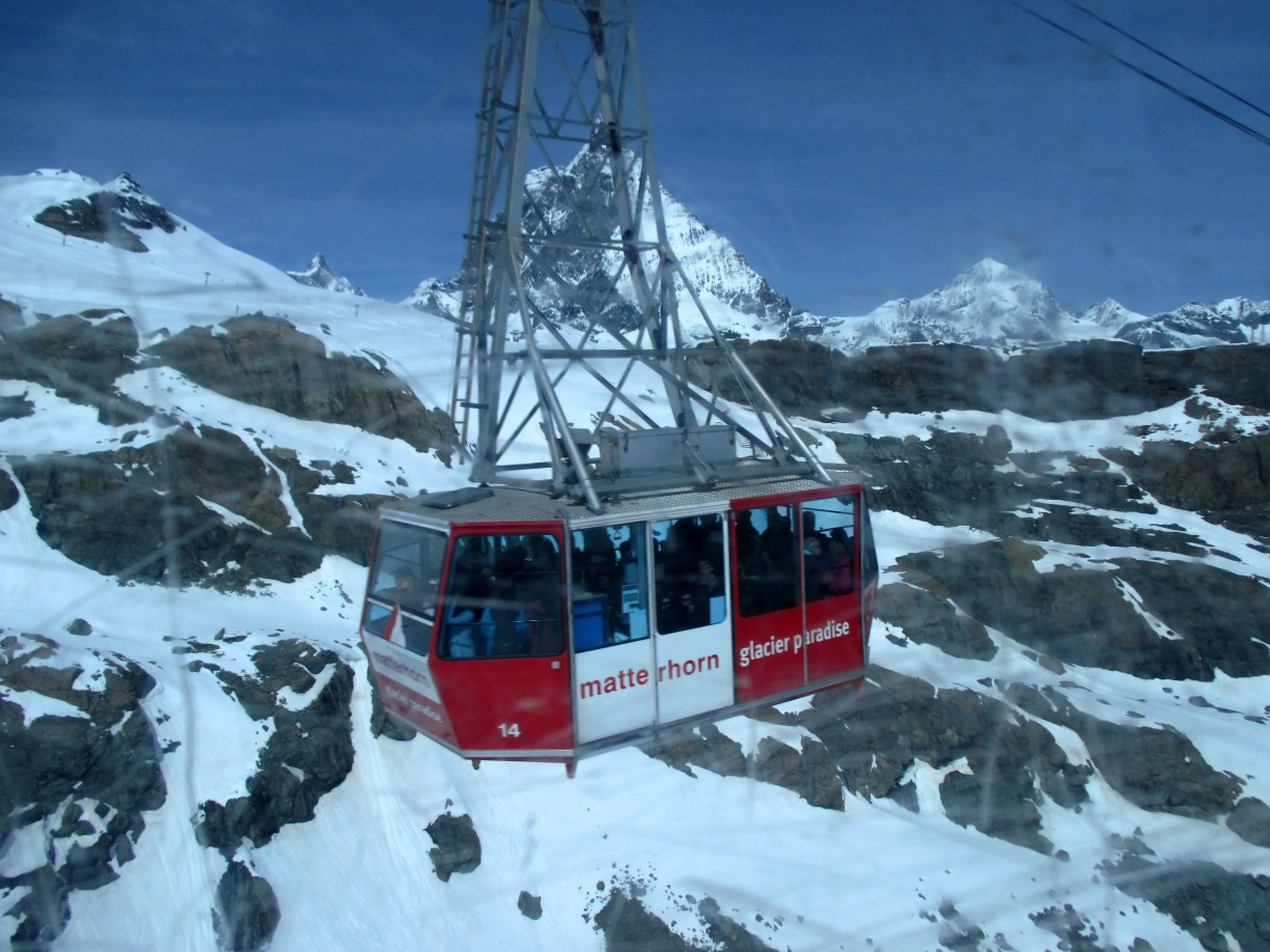 Klein Matterhorn cable car, Swiss Alps