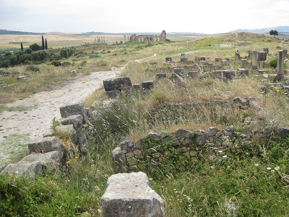 Volubilis occupied a large area