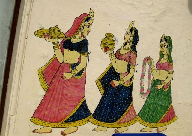 Udaipur - City Palace Complex - Wall Painting